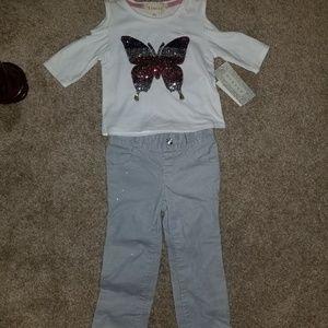 between shirt Gymboree pants set